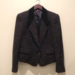 Gorgeous Wool Blend Colorful Structured Blazer 6P